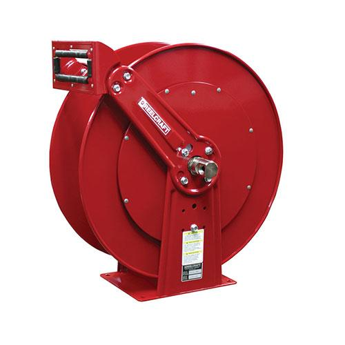 "Dual Pedestal Hose Reels (Series 80000 & D80000) Series 80000 & D80000 - 3/8"", 1/2"", 3/4"", 1"" I.D. Spring Driven Air / Water / Oil / Grease_2"