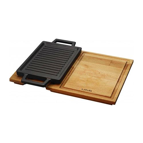 Hot Plate And Wooden Service Platter LVECOHP2215T13K4-2_2