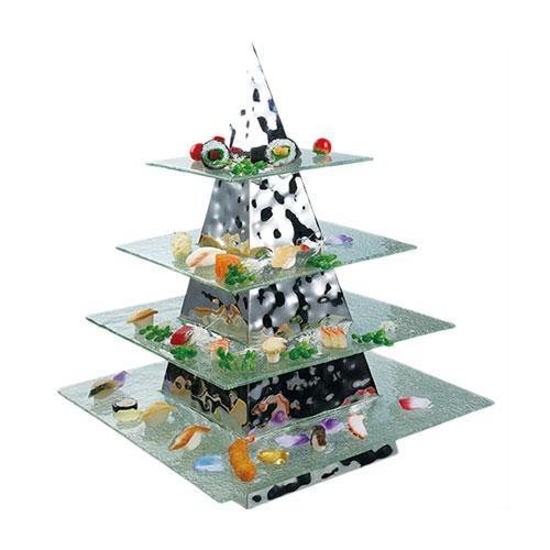 Pyramid Buffet Stand 350x350x800mm+ZBF-032-4_2