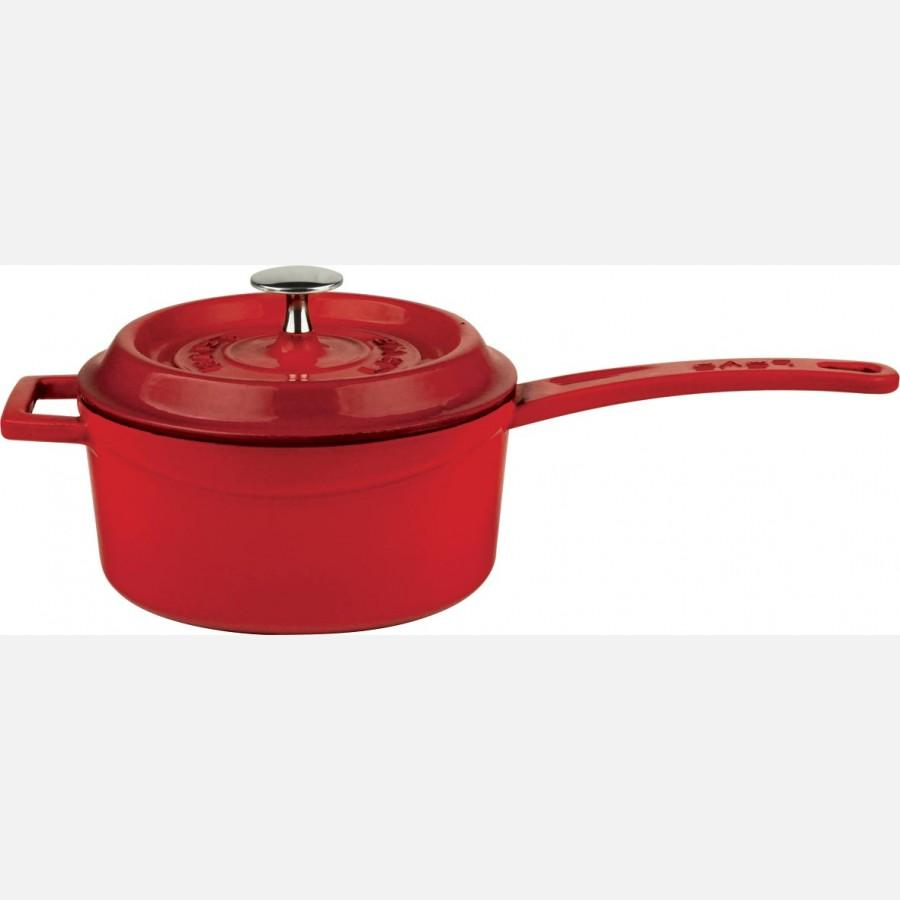 Cast Iron Sauce Pan - Integral w/ metal handles - LV Y SOS 16 K2_2