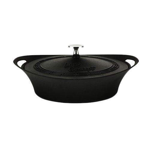 Cast Iron CONCEPT Round Shallow Casserole -w/ cast iron lid - LV CP STC 24 K5_2