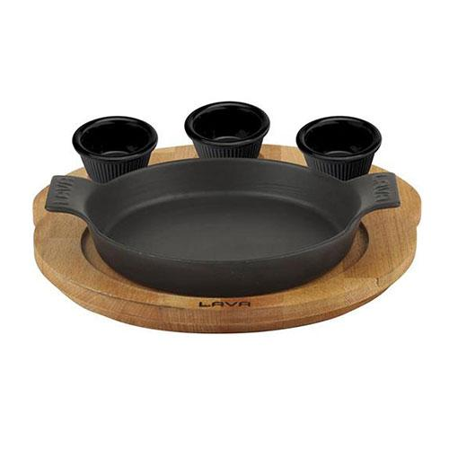 Round Skillet And Wooden Service Platter LV ECO Y STV 16 K44_3