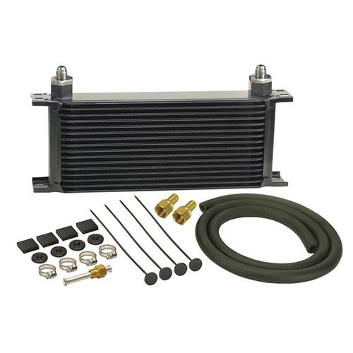 DERALE 16 ROW SERIES 10,000 STACK PLATE TRANSMISSION COOLER KIT  13402_2