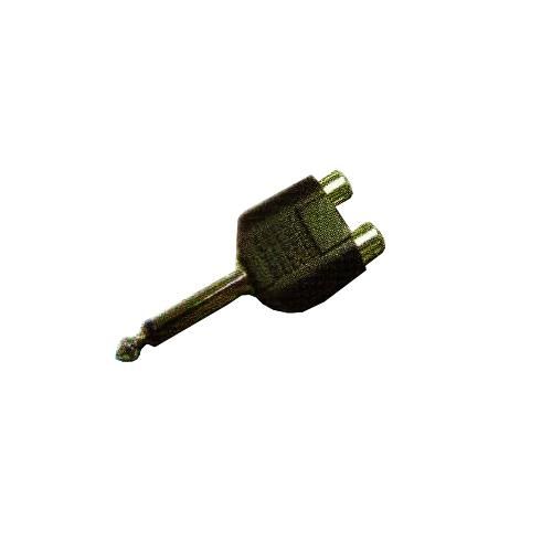 6,35MM MO PLUG-2XRCA JACKS CAD2232_2