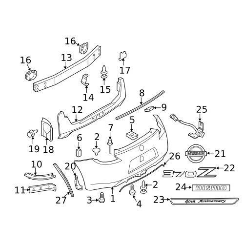 Nissan 01241-00471 Splash guard clip nut_3
