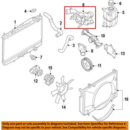 Nissan 11061-7S000 Thermostat Housing_2