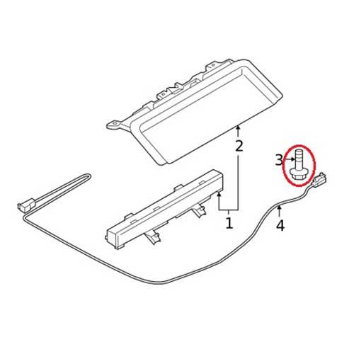 Nissan 08543-41242 High Mount Lamp Screw_2
