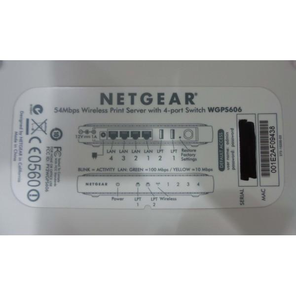 NETGEAR 54MBPS WIRELESS PRINT SERVER WITH 4-PORT SWITCH WGPS606_3