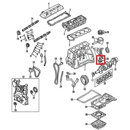 Nissan 12111-MA00A Connecting Rod Bearing_2