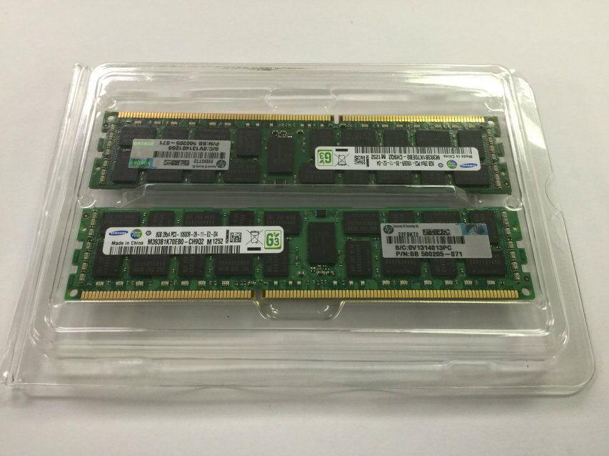 HP DDR3 8GB 2RX4 PC3-10600R MEMORY 16G_2