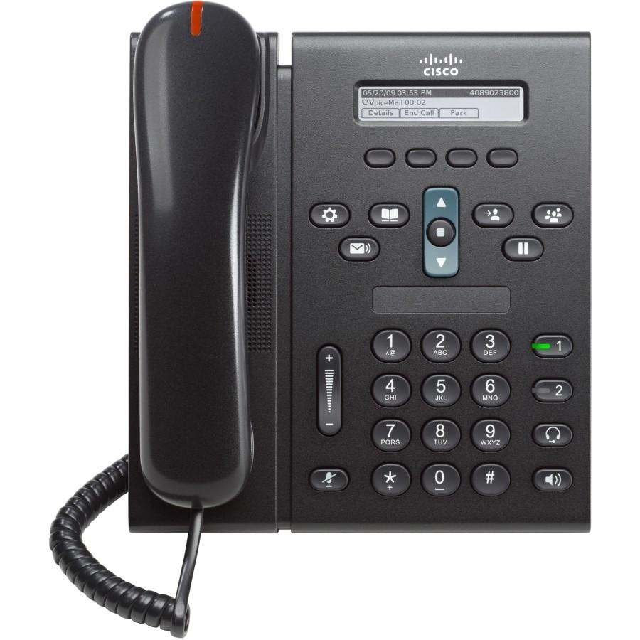 Cisco Unified IP Phone 6921, Charcoal, Slimline Handset CP-6921-CL-K9_2