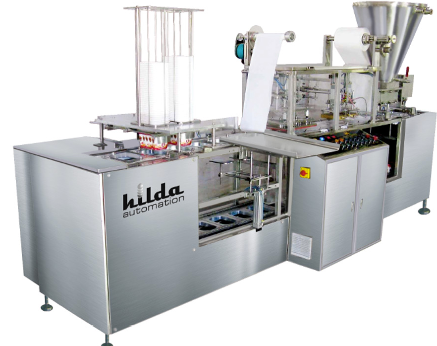 Linear 2 Head / Nozzle, Cup Rinsing, Filling & Sealing Machine For Yogurt/Curd_2