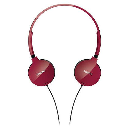 Philips Lightweight Headphones SHL1700RD/10_3