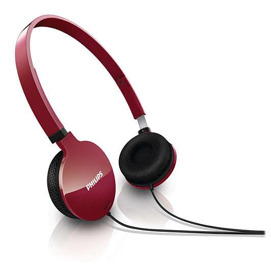 Philips Lightweight Headphones SHL1700RD/10_4