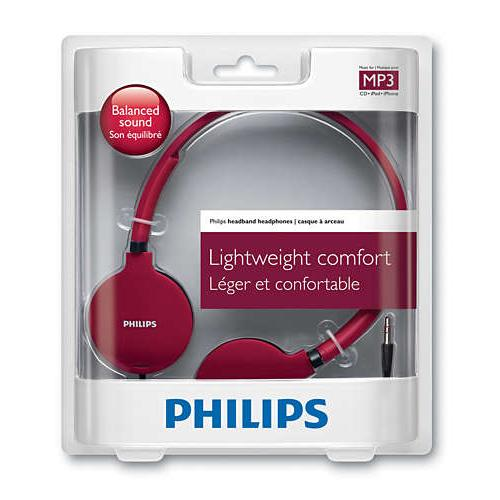 Philips Lightweight Headphones SHL1700RD/10_6