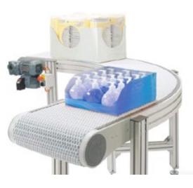 Air System Flexlink Aluminum Modular Plastic Belt Conveyor_2