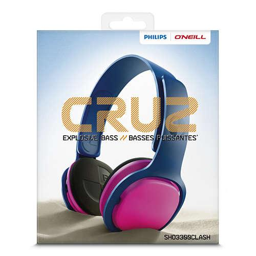 PHILIPS O'NEILL SHO3300CLASH HEADBAND HEADPHONES_5