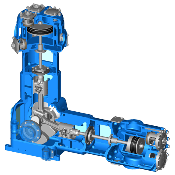 Oil Free 2 Stage Piston Low Pressure Compressor_2