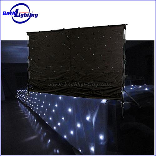 White Color LED Star Cloth Curtain_2