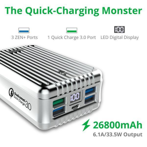 Zendure A8 26800 mAh Qualcom 3.0 Crush Proof Power Bank_2