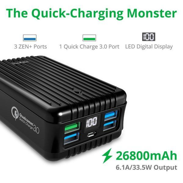 Zendure A8 26800 mAh Qualcom 3.0 Crush Proof Power Bank_4