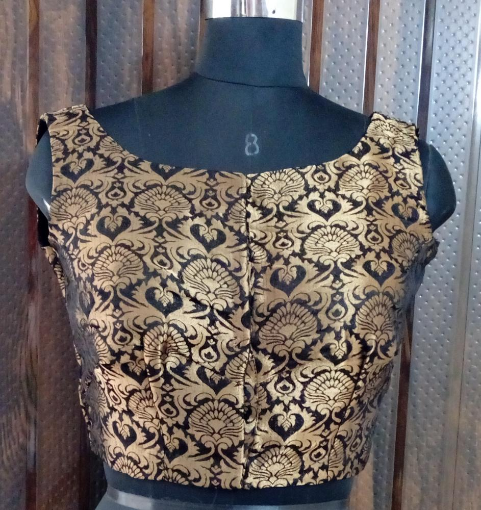 Black Brocade Blouse_2
