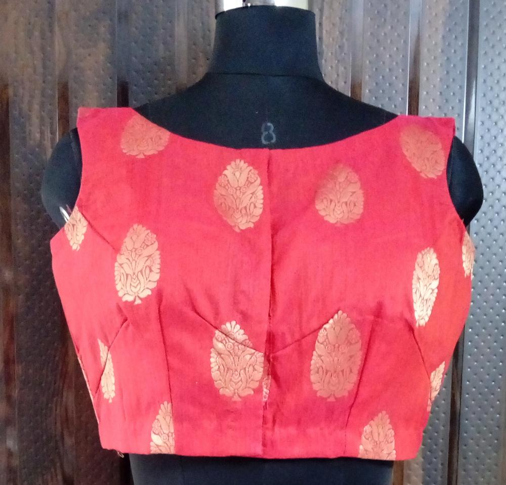 Rose Red Dupion Blouse_2