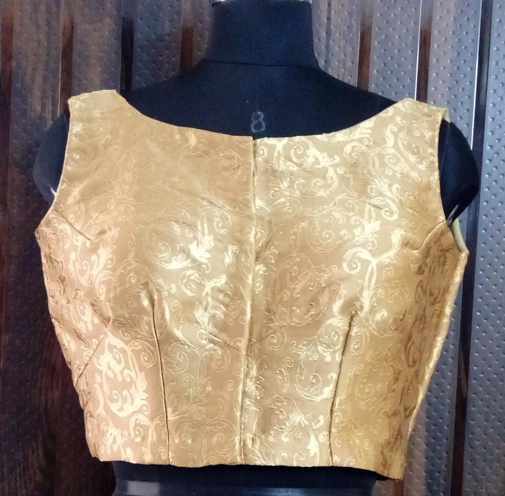 Golden Brocade Blouse_2