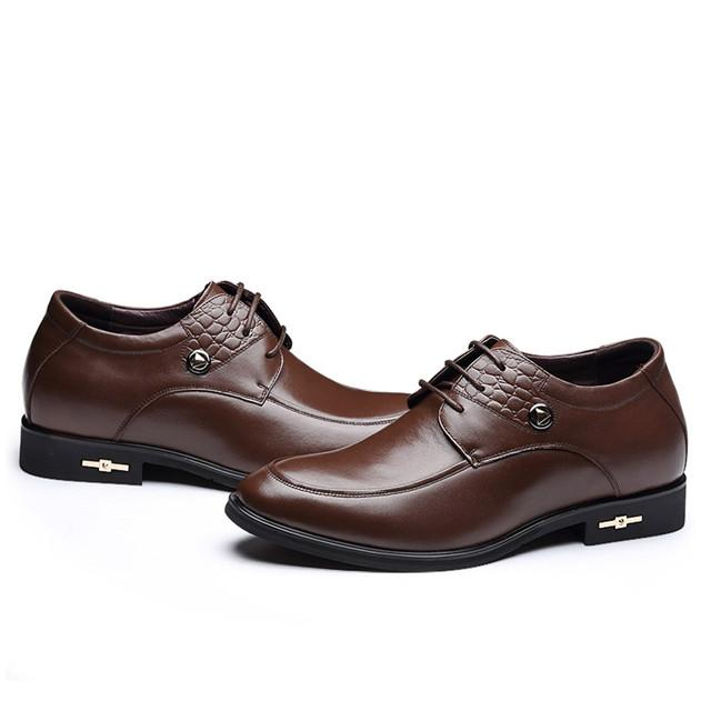 Skyeshopping Height Increasing Shoes Men Elevator Leather Shoes Formal Dress Shoes_4