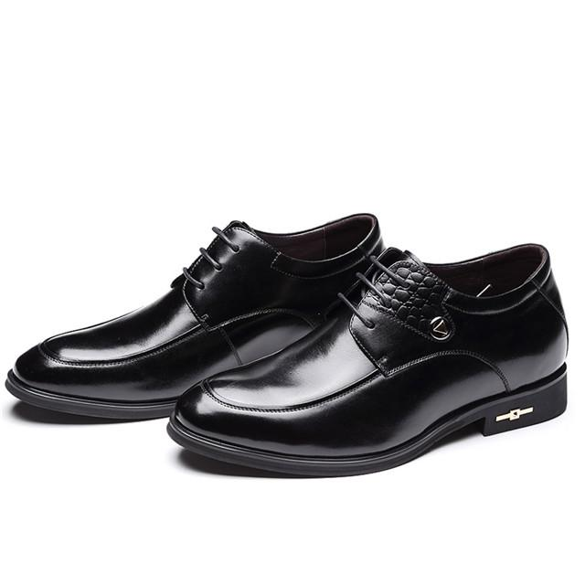 Skyeshopping Height Increasing Shoes Men Elevator Leather Shoes Formal Dress Shoes_7
