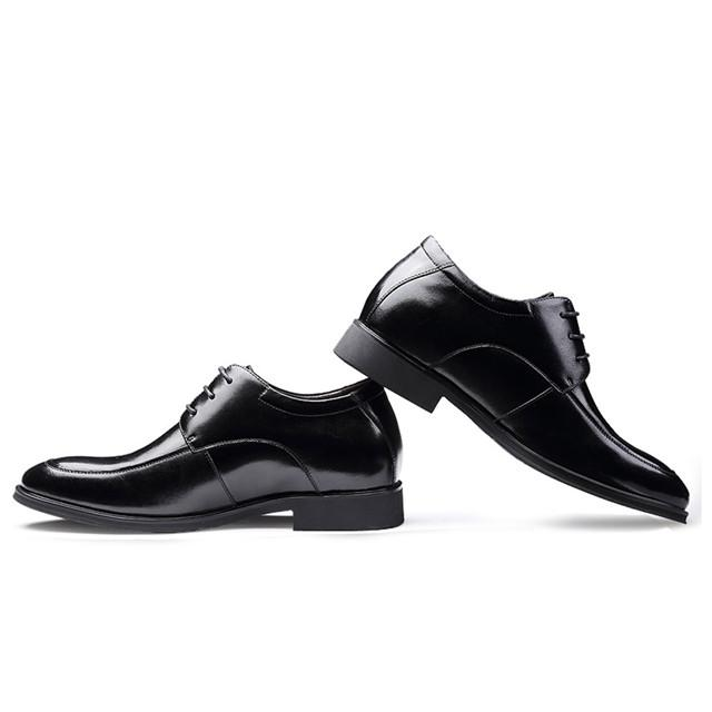 Skyeshopping Height Increasing Shoes Men Elevator Leather Shoes Formal Dress Shoes_8