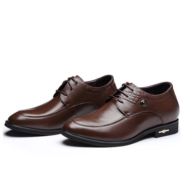 Skyeshopping Height Increasing Shoes Men Elevator Leather Shoes Formal Dress Shoes_5
