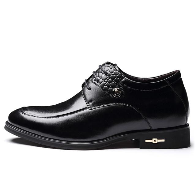 Skyeshopping Height Increasing Shoes Men Elevator Leather Shoes Formal Dress Shoes_10