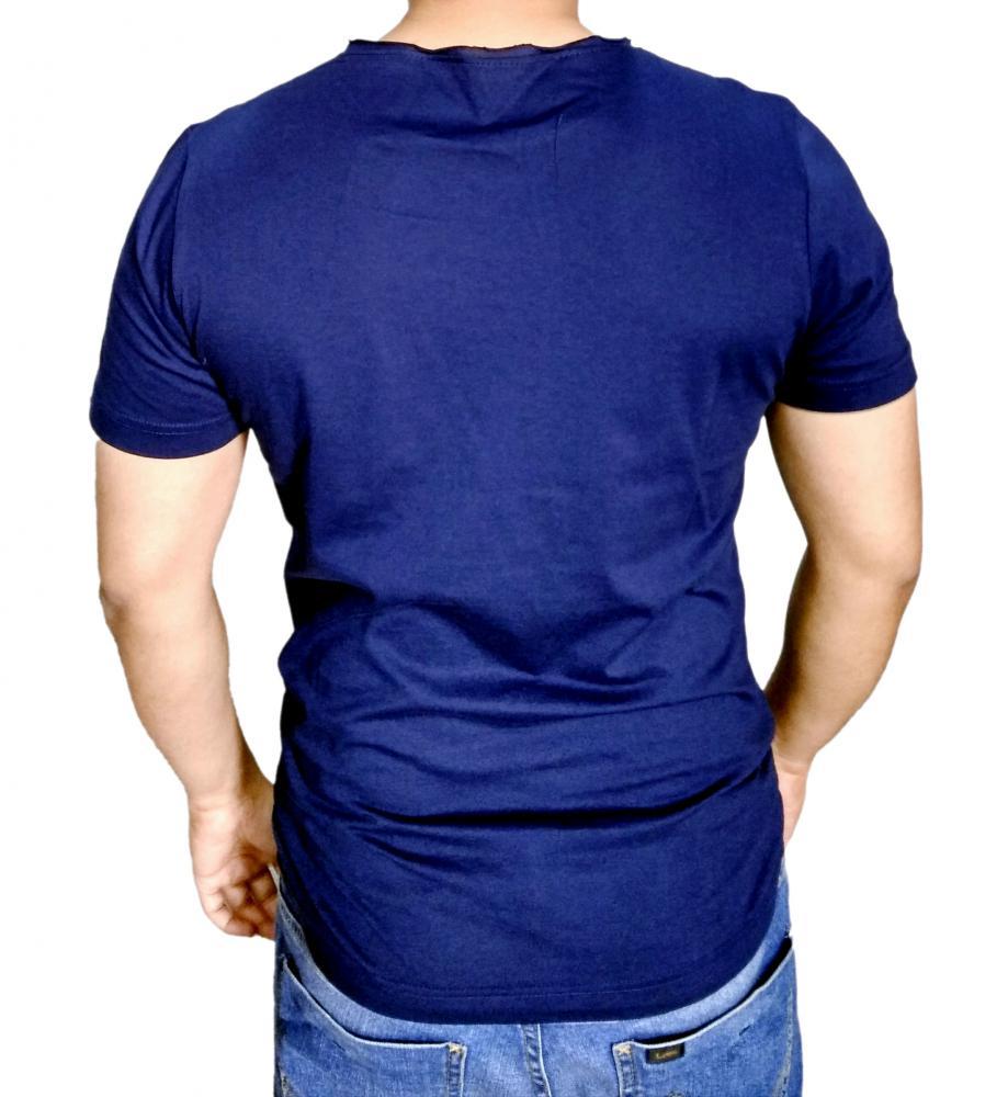 COLOR SWING Mens Roll Edge Neck T-Shirt_2