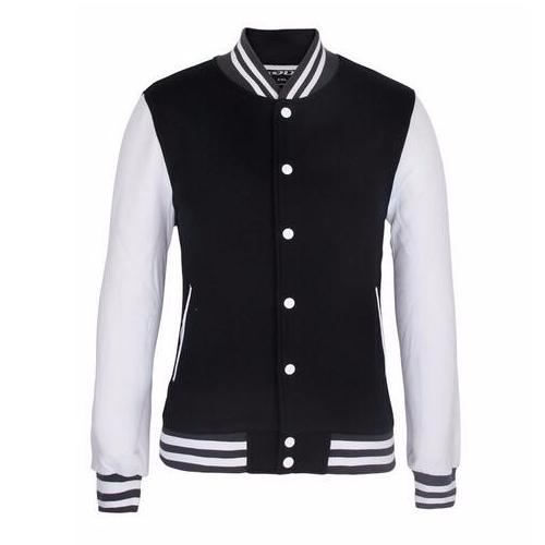 Wholesale Cheap Custom Plain Blank Satin Bomber Varsity Man Jacket_3