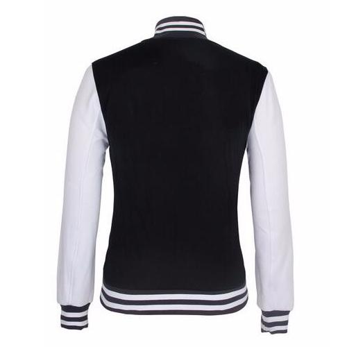 Wholesale Cheap Custom Plain Blank Satin Bomber Varsity Man Jacket_2