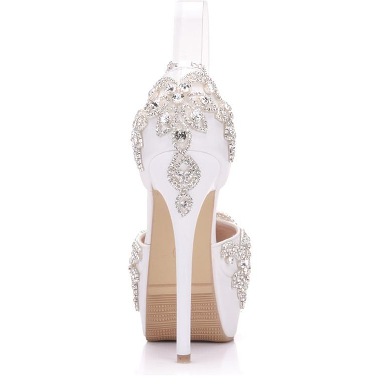 Fashion Luxury Rhinestone Ultra High Heels Women's Wedding Shoes_8