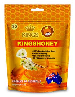Kings Kuma Yellow Honey Straws (30 x 12g)/ bag 100% Australian Product_3