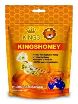 Kings Kuma Yellow Honey Straws (16 x 12g)/bag 100% Australian Product)_3