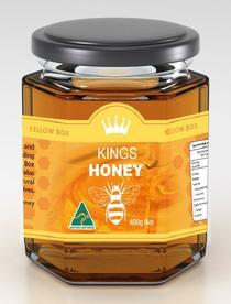 Kings Kuma Yellow Honey Jar (400g)_2
