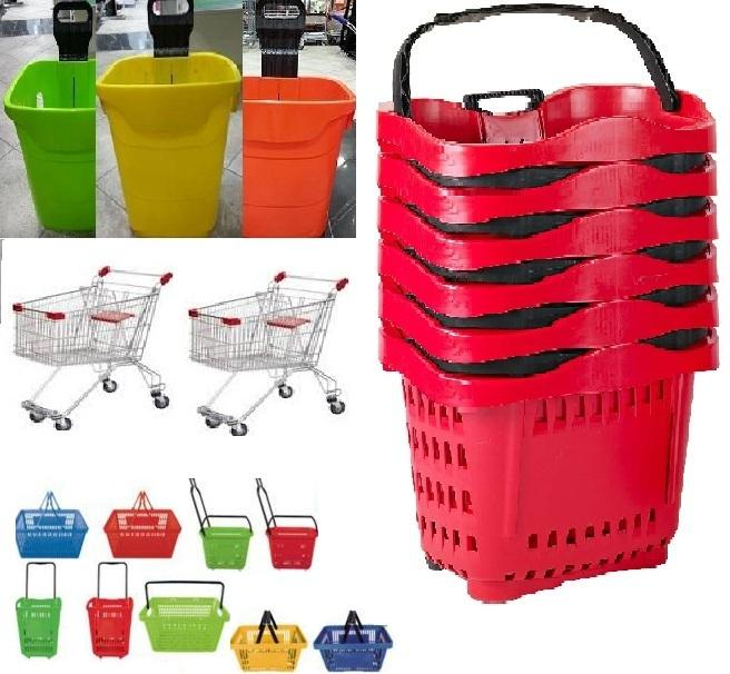Plastic Trolley for Supermarket, Apple Trolley,Cest Plastic Trolley for Supermarket_2