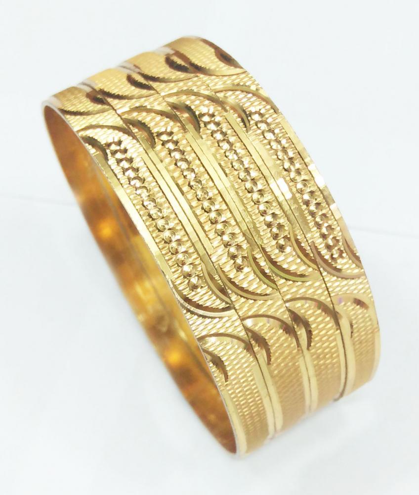 CNC Diegold Brass Bangle 6MM Width_4