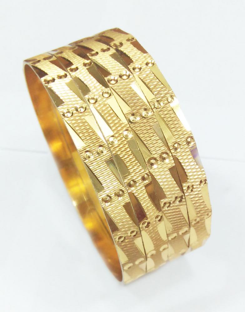 CNC Diegold Brass Bangle 6MM Width_3