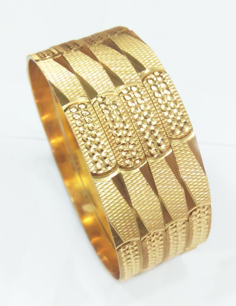 CNC Diegold Brass Bangle 6MM Width_2