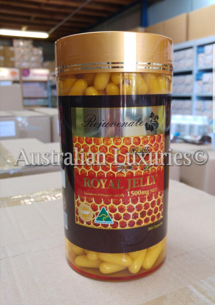 Rejuvenate Royal Jelly 365 Capsules Made in Australia GMP_2