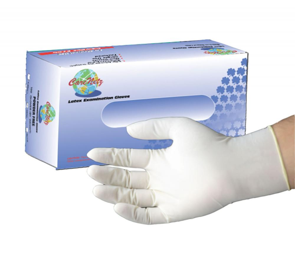 Latex Exam Gloves Powder Free, Txtd_2