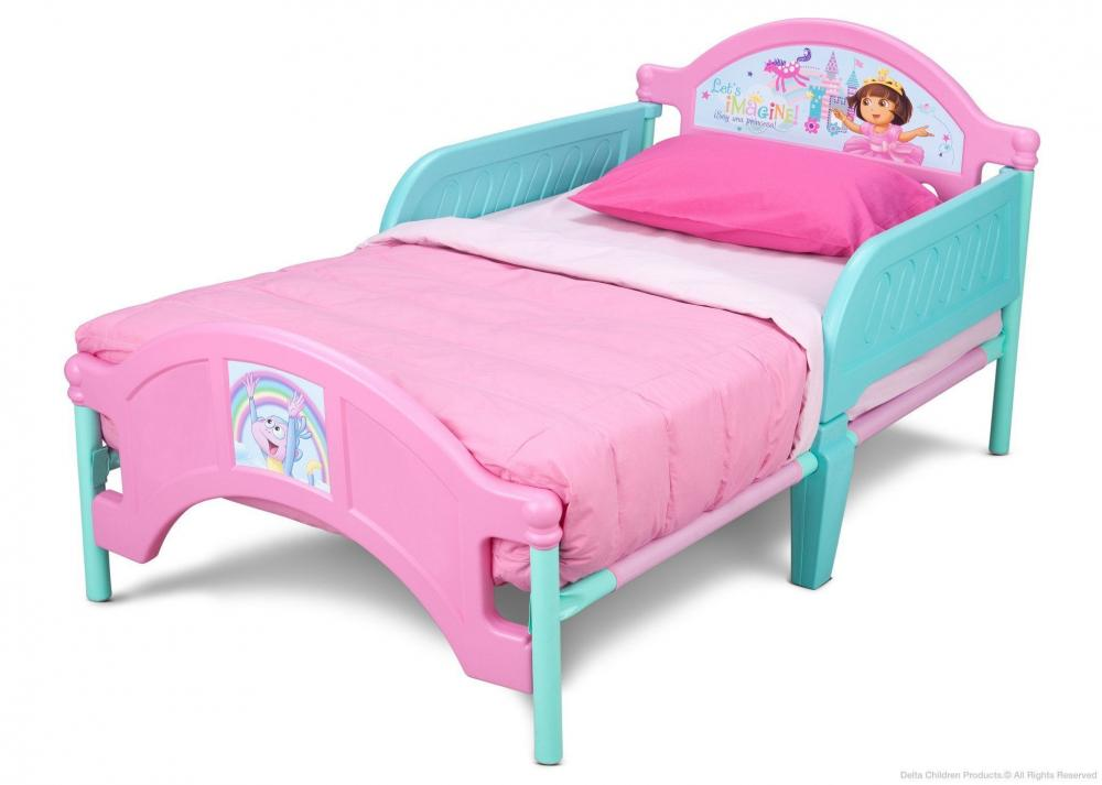 Dora Plastic Toddler Bed_2