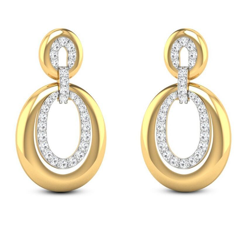 Gold Diamond Earrings_2