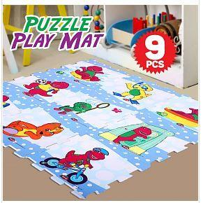 Barney & Friend Design EVA Puzzle Play Mat 9 Pcs_2