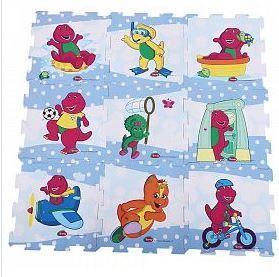 Barney & Friend Design EVA Puzzle Play Mat 9 Pcs_5